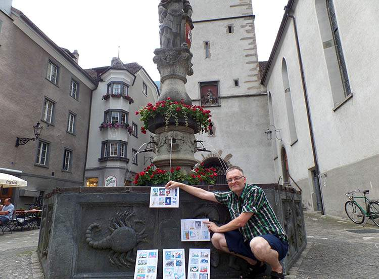 Chur Szwajcaria Switzerland World Happy Skyscraper Cartoons Tour