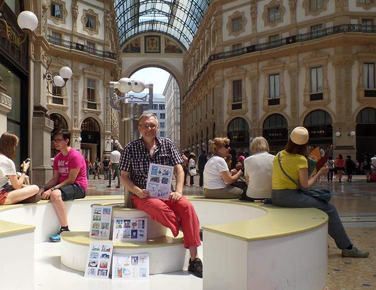 Milano Italy Włochy Italia World Happy Skyscraper Cartoons Tour