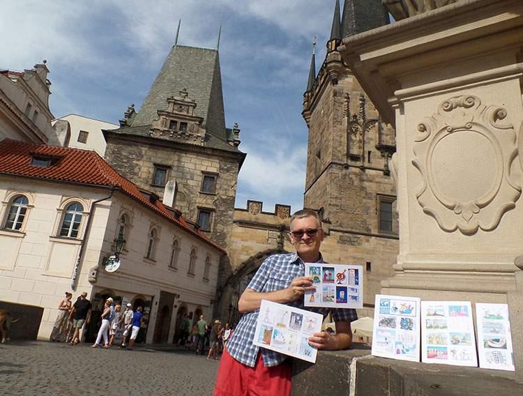 Praga Czechy Praha Prague World Happy Skyscraper Cartoons Tour