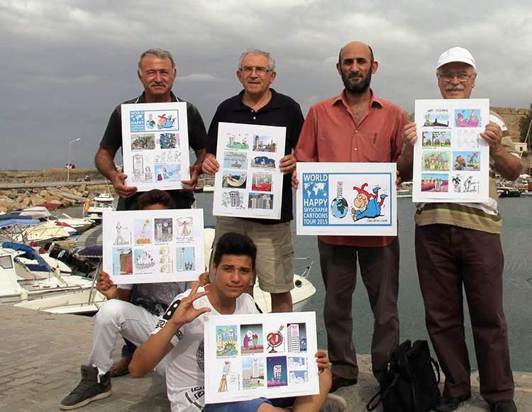 Kyrenia Northern Cyprus World Happy Skyscraper Cartoons Tour