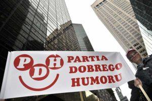 Parada Pułaskiego Nowy Jork Partia Dobrego Humoru PDH Manhattan transparent wieżowce Good Humor Party