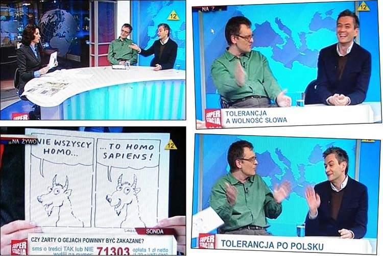kozia wojna satyryk Szczepan Sadurski Robert Biedroń Superstacja Eliza Michalik