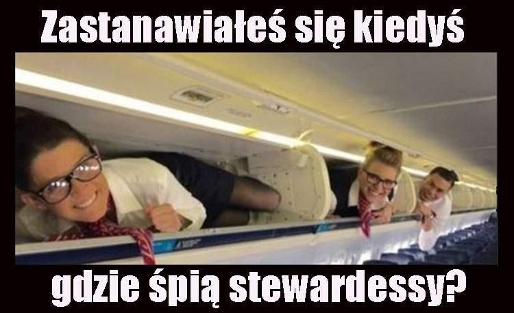 stewardessy humor kawały dowcipy stewardessa piloci samoloty linie lotnicze