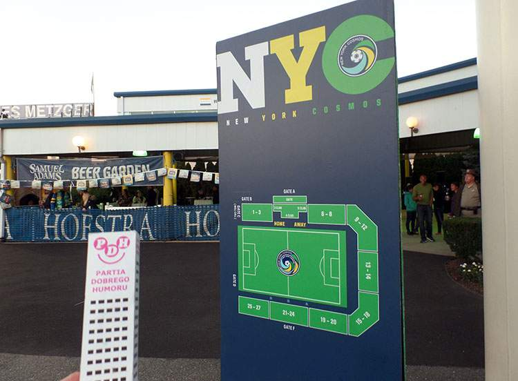 New York Cosmos Nowy Jork Hofstra Stadium stadion tablica informacyjna