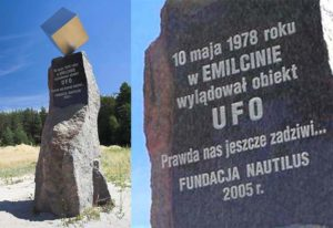 Emilcin pomnik UFO Jan Wolski kosmici obcy