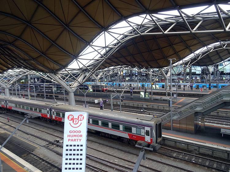 Melbourne Australia dworzec kolejowy