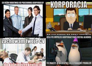 dowcipy o korporacji korpo humor korporacyjny praca kawały korporacja na wesoło memy biuro
