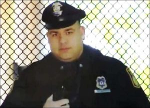 kartonowy policjant Boston policja USA