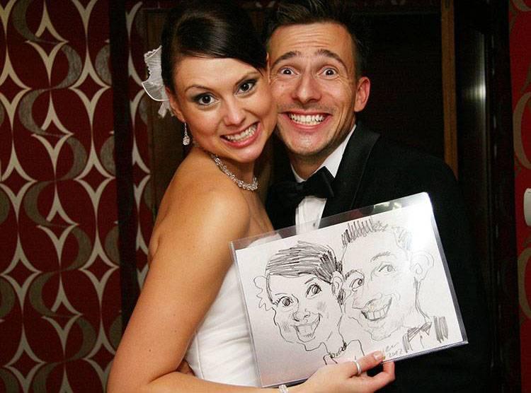 karykaturzysta na wesele karykatury atrakcje wesele