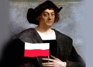 Krzysztof Kolumb Ameryka Polak polska flaga Polski