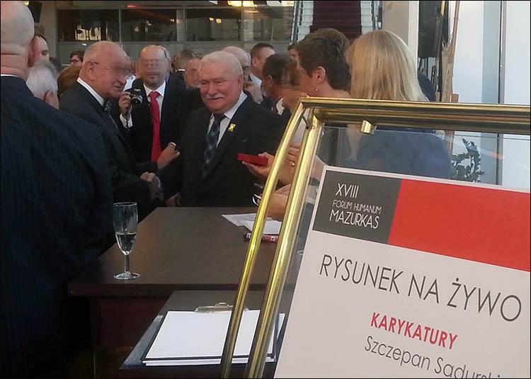 Lech Wałęsa Szczepan Sadurski karykatury