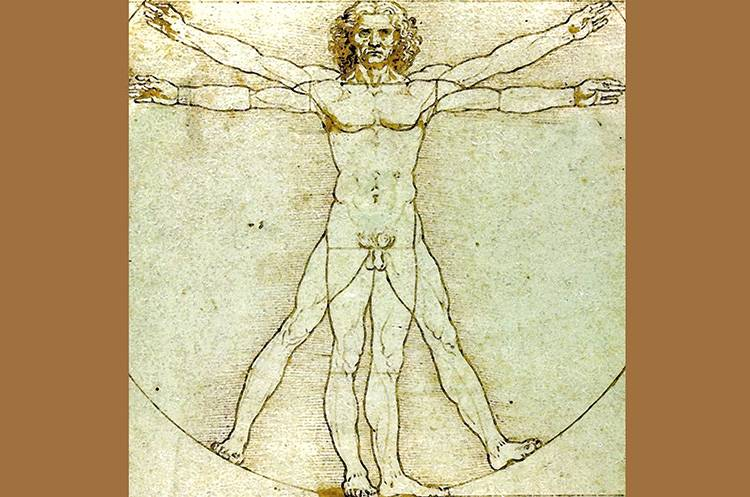 Leonardo da Vinci ideał piękna mężczyzna