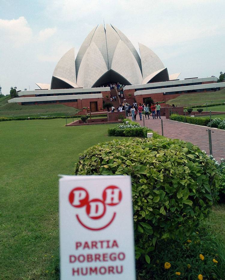 Lotus Temple Delhi India Świątynia Lotosu indie