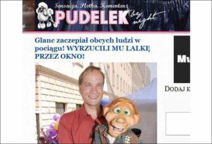 Pudelek portal plotki Wojciech Glanc brzuchomówca