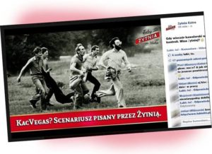 stan wojenny reklama Facebook wódka Żytnia