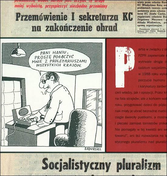 szpilki socjalizm satyra Sadurski