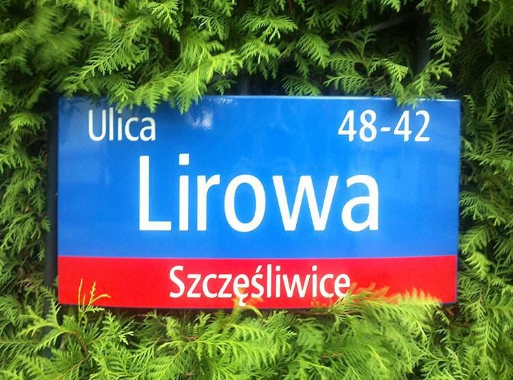 Warszawa ulica Lirowa Szczęśliwice