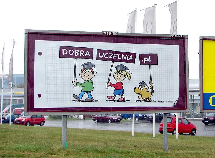 billboardy rysunki rysownik reklama humor warszawa