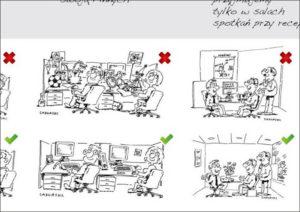 rysunki praca biuro humor open space