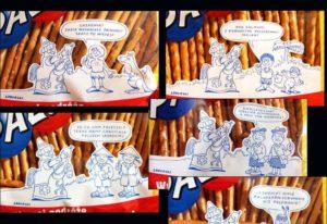 paluszki Lajkonik Sadurski rysunki opakowania