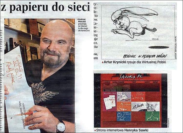 Andrzej Mleczko rysownik satyryczny