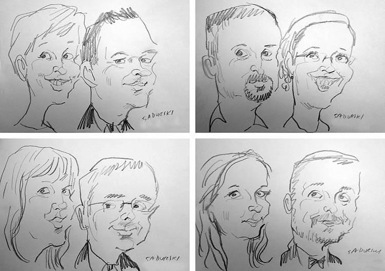 karykatury na żywo wesele karykaturzysta event