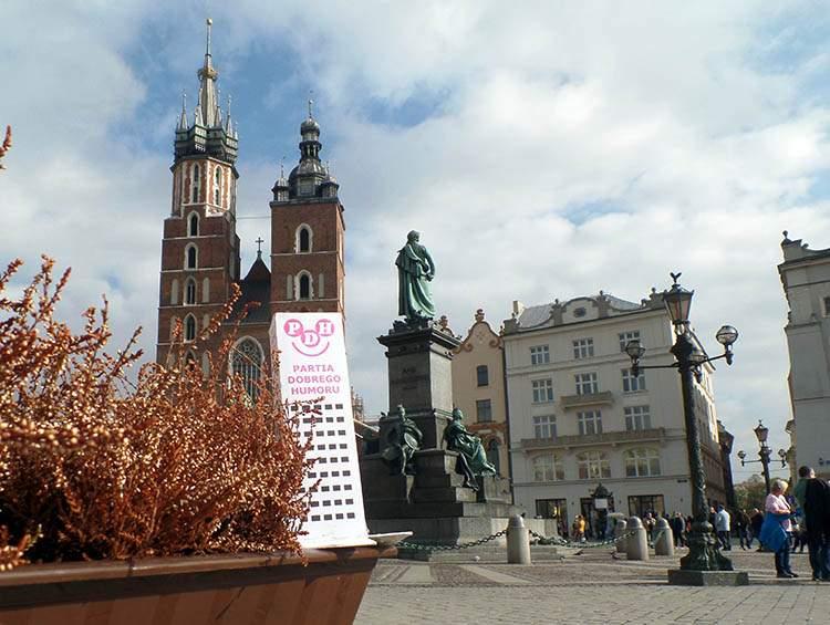 Kraków Partia Dobrego Humoru kultura satyra polski wieżowiec