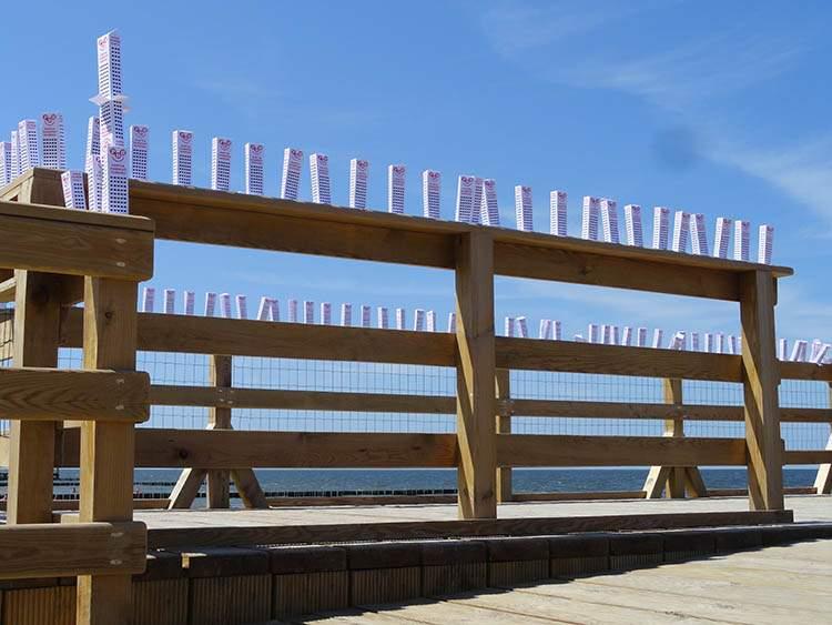 Ustronie Morskie plaża Wesoły Wieżowiec rekord