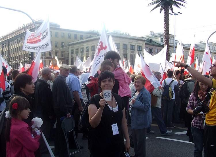 Warszawa demonstracja Partia Dobrego Humoru