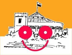 uśmiechnięty parlament politycy poczucie humoru