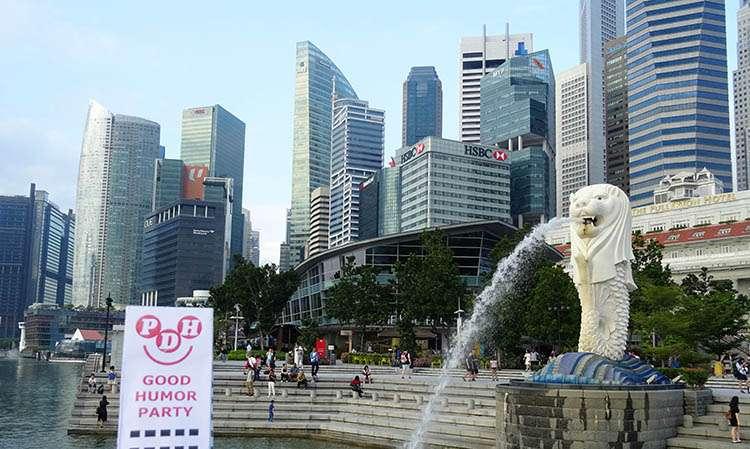 Merlion Singapur Marina Bay