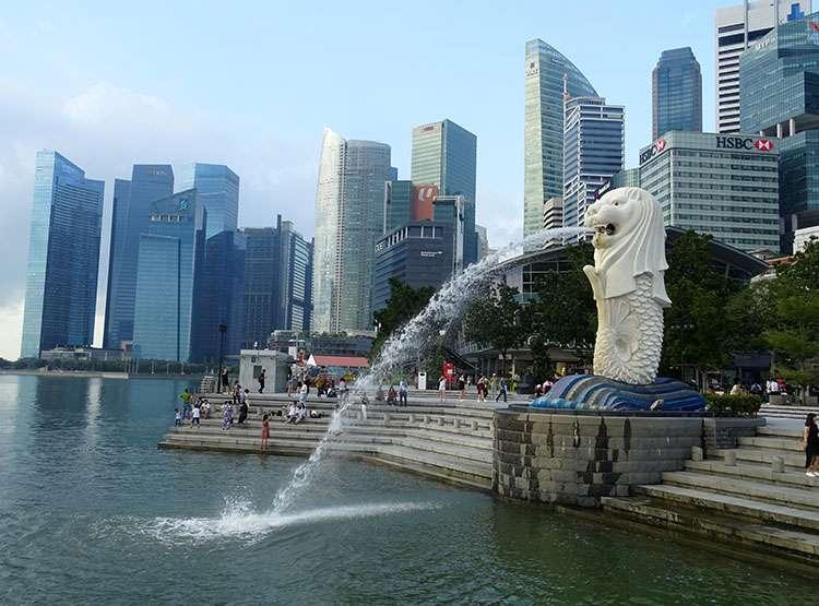 Singapur ciekawostki Merlion Singapore