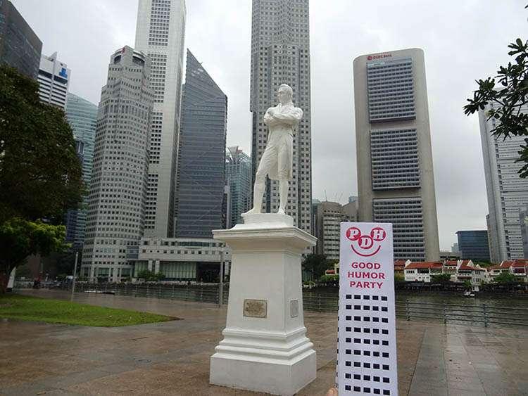Thomas Stamford Raffles statue Singapur