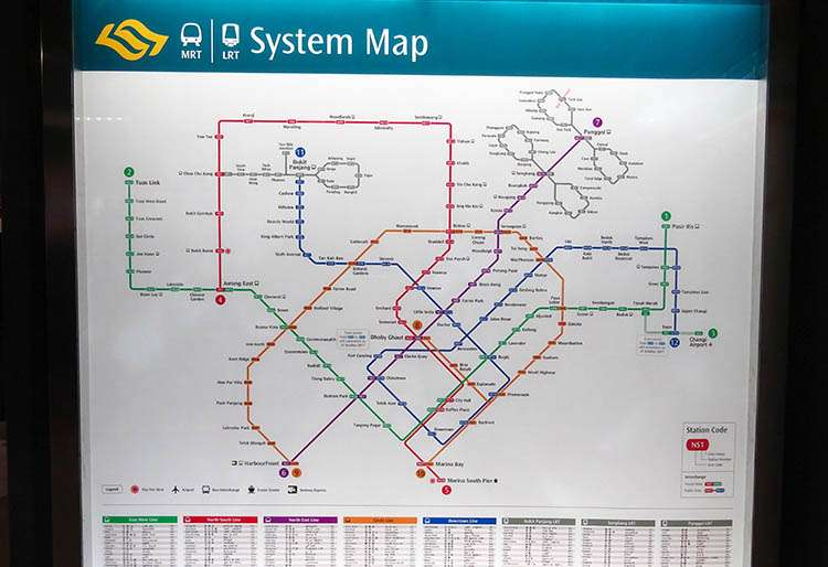 Singapur ciekawostki netro Singapore transport linie metra