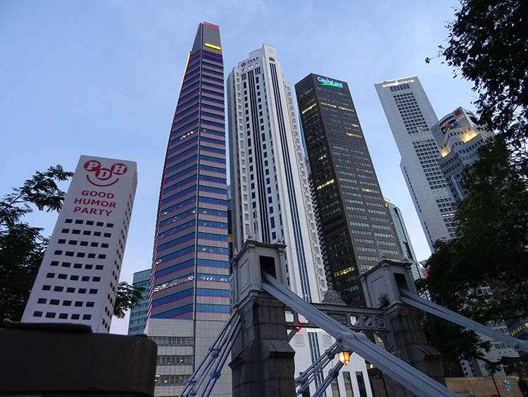 Singapur city wieżowce Singapore