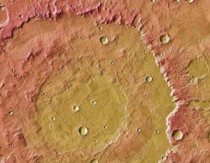 Huygens krater Mars kosmos