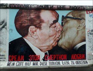 Leonid Breżniew Erich Honecker ZSRR Berlin Mur Berliński