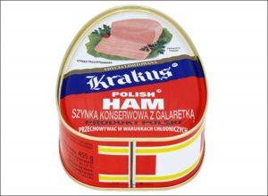 polska szynka Krakus puszka konserwa polish ham