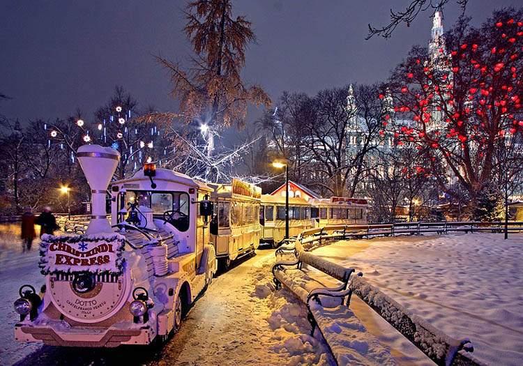 Wiedeń jarmark bożonarodzeniowy Rathaus Park