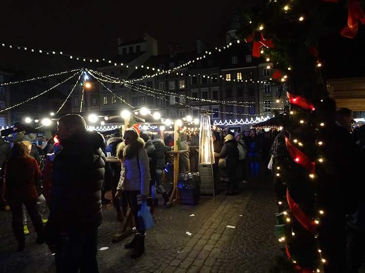 Warszawa jarmark bożonarodzeniowy