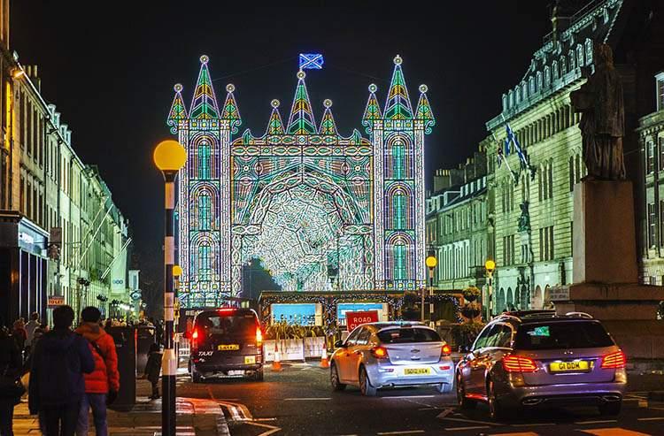 Edynburg Szkocja jarmarki bożonarodzeniowe