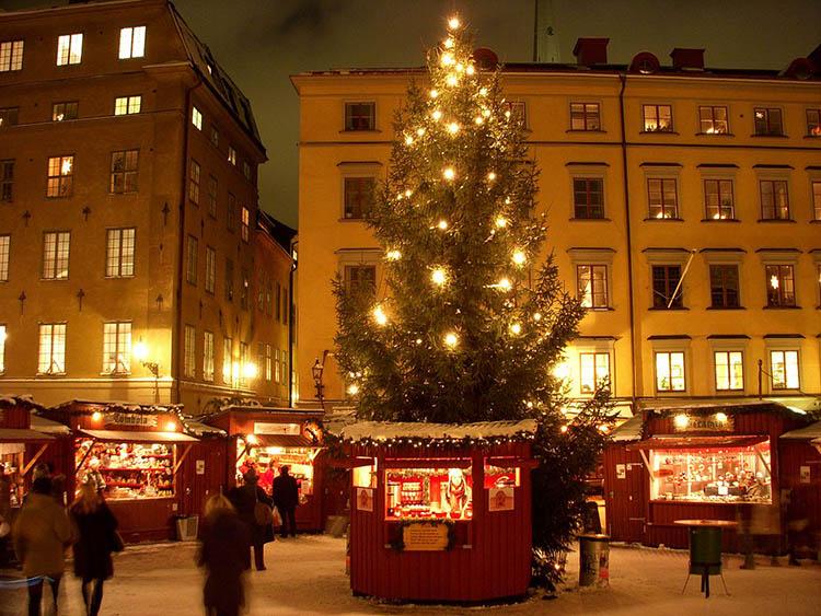 Sztokholm Szwecja jarmark bożonarodzeniowy