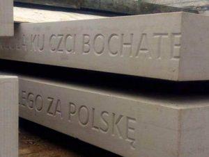 pomnik Lublin bohater bochater błąd ortograficzny