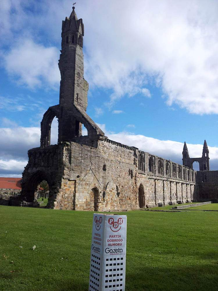 St Andrews Szkocja Scotland katedra ruiny