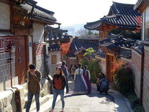 wioska Bukchon Hanok Seul atrakcje Korea Południowa