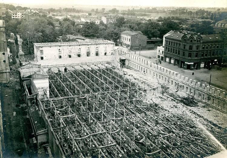 Żyrardów tkalnia zniszczenia w 1915 roku Zbiory Muzeum Mazowsza Zachodniego