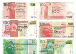 dolar hongkoński waluta Hong Kong hdk banknoty