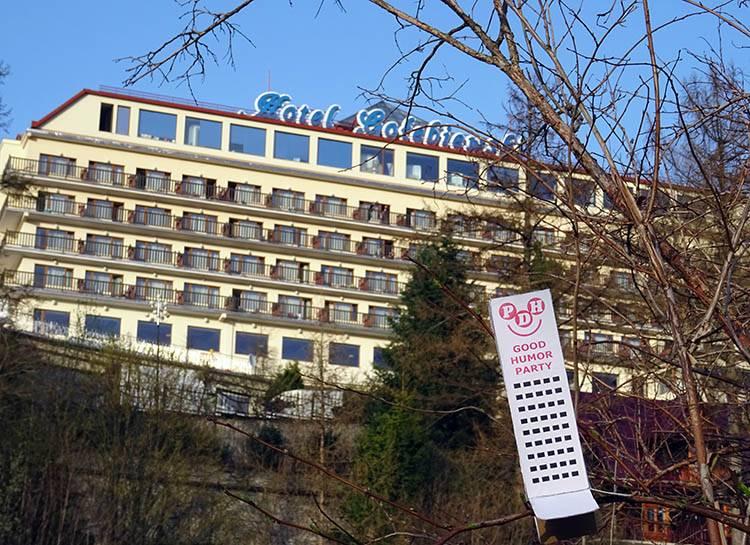 miasto Wisła ciekawostki Hotel Gołębiewski