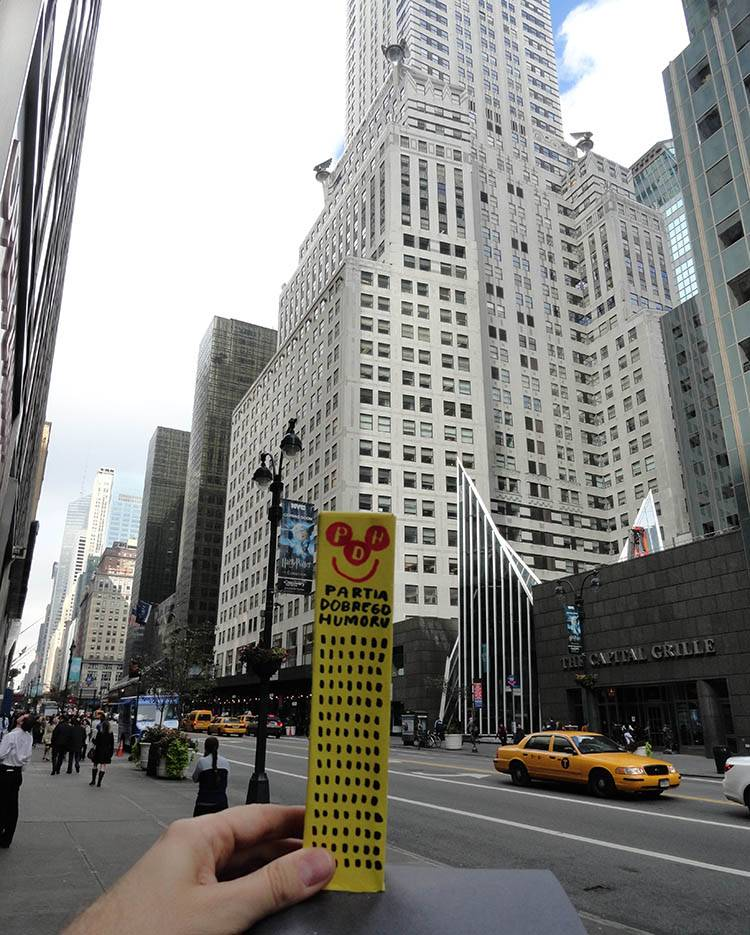 Manhattan Nowy Jork NYC wesoły wieżowiec Happy Skyscraper Chrysler Building