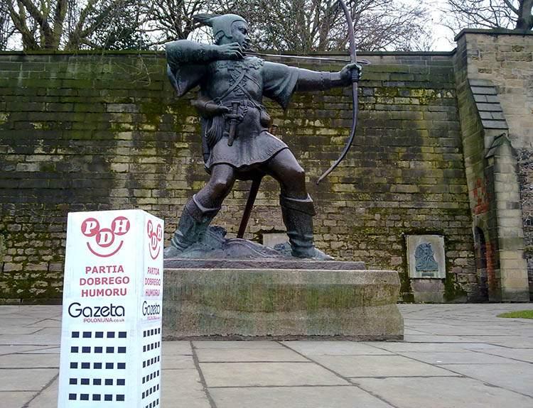 Nottingham Anglia podróże po Anglii Robin Hood